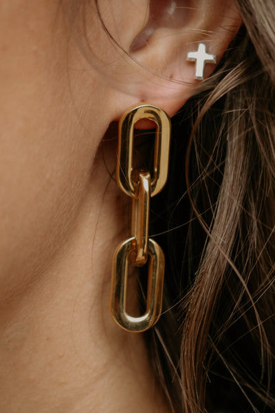 ellie vail: gage link earring - gold