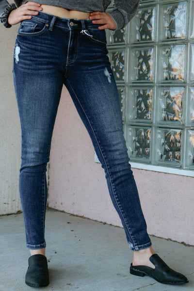the harlow jean - dark denim