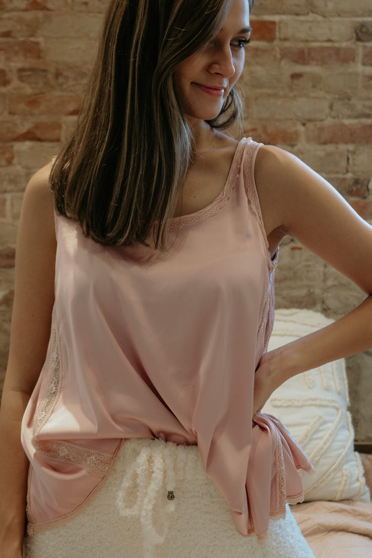 saturday night special cami - pink