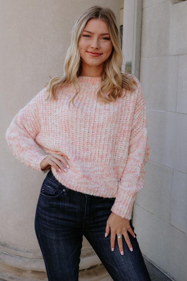 a dash of pink sweater - pink multi