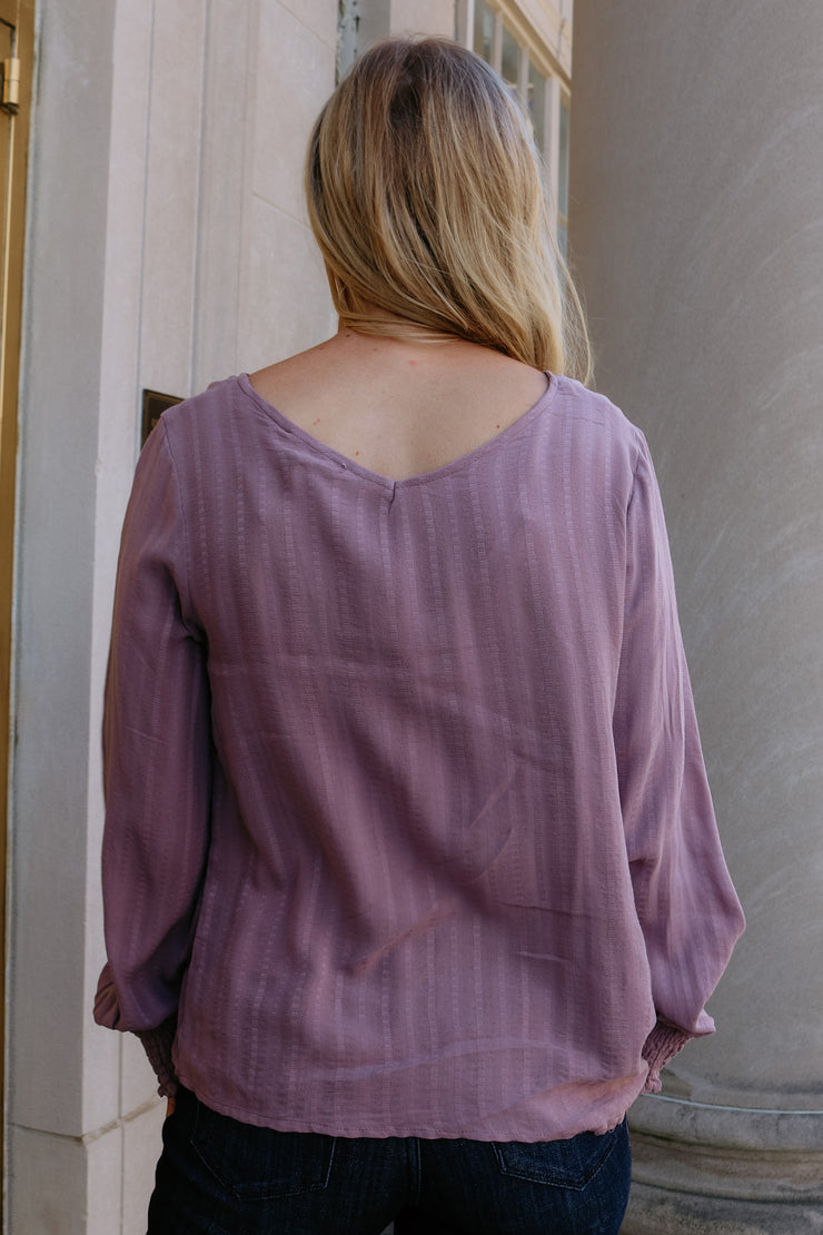 good vibes only top - mauve