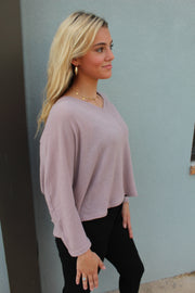 light raglan top - lavender