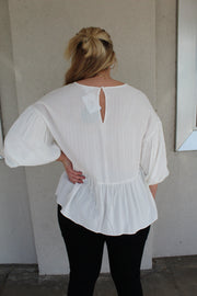 picture perfect top - white