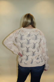 autumn leaves sweater - beige