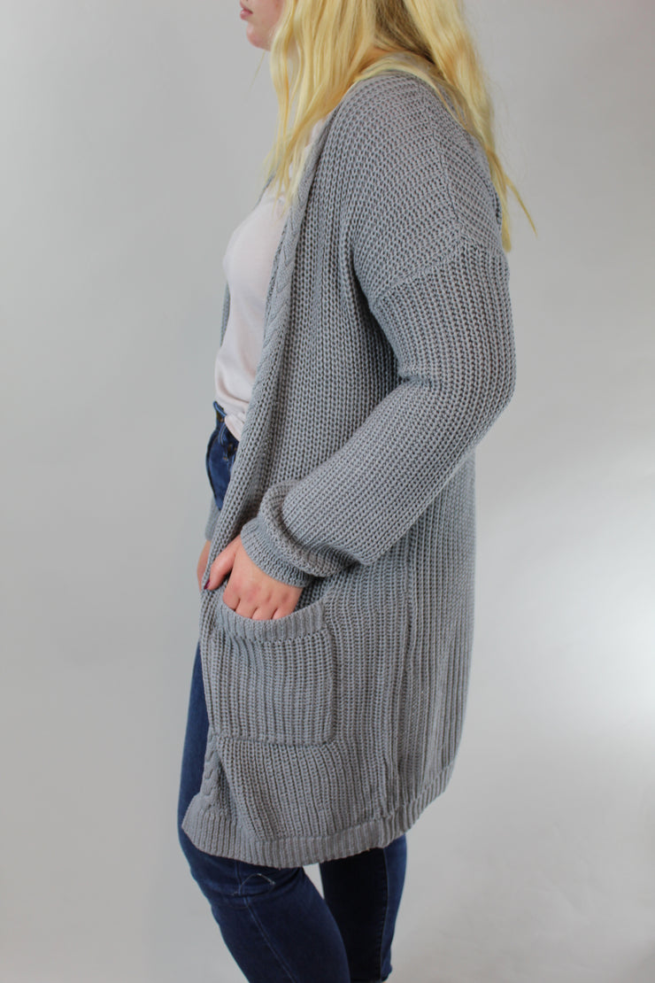 move on over cardigan - gray
