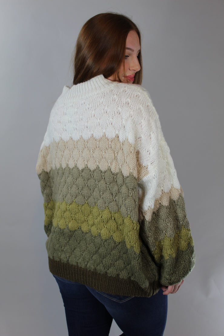 crisp air sweater - olive