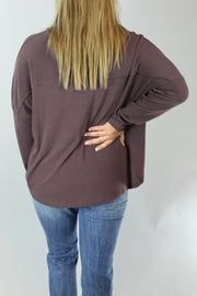 hold me close top - brown