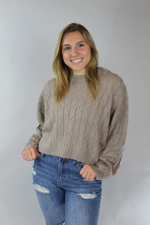 warm and cozy sweater - light mocha