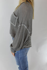 toasty mornings top - charcoal