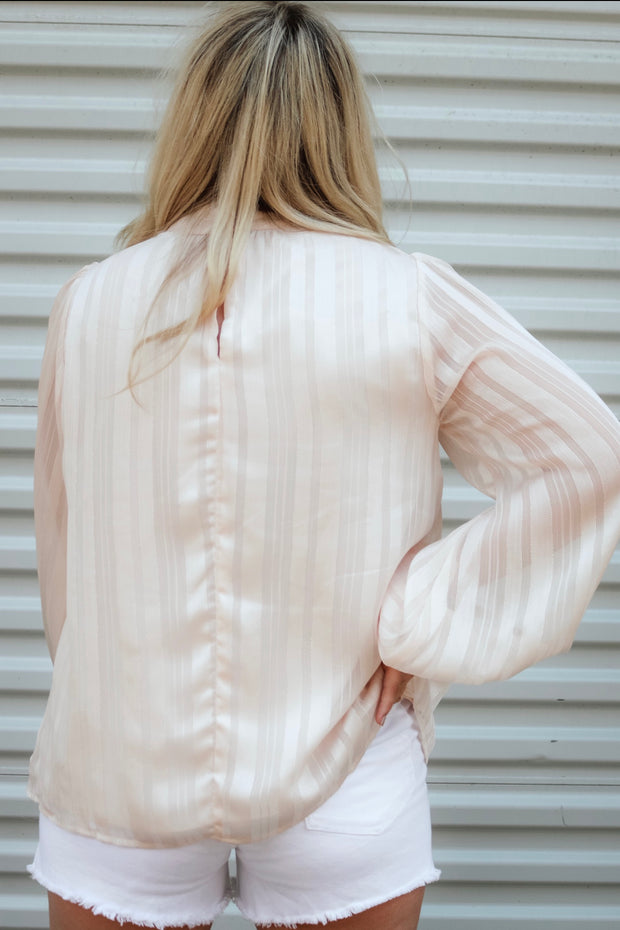 peachy keen top - pale peach
