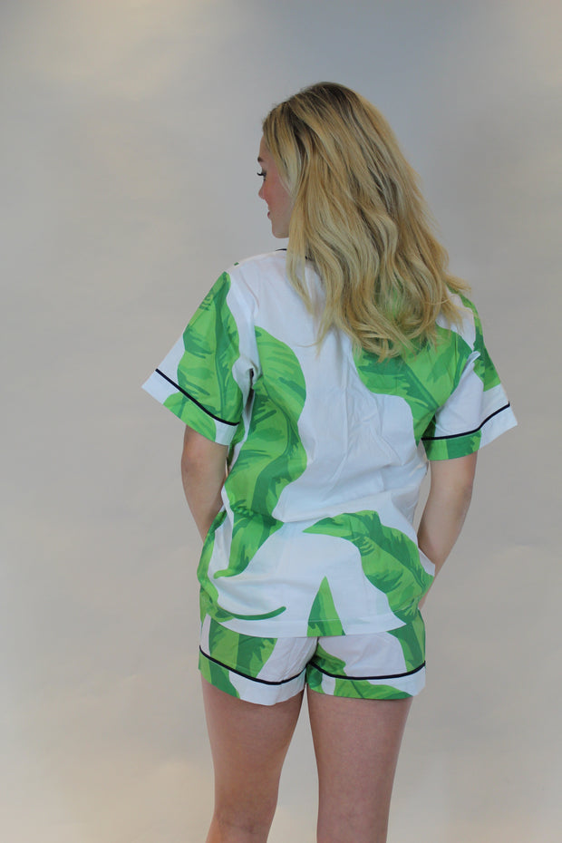 banana leaves pajama set