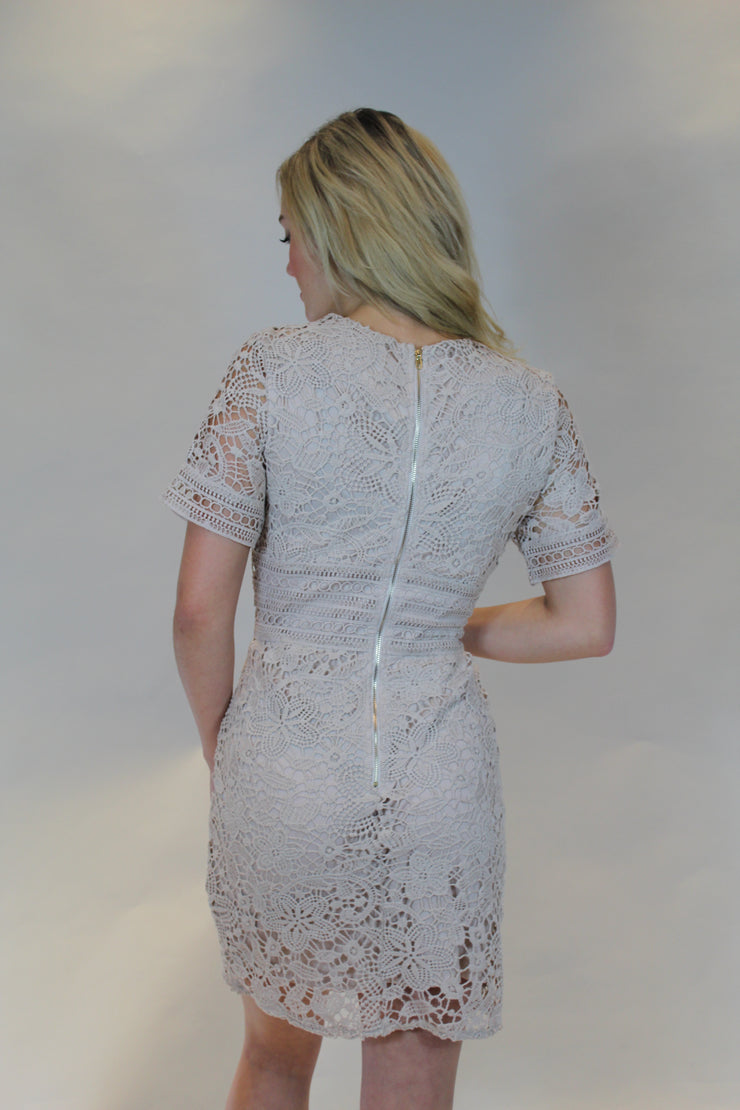 touch of sweetness dress - taupe