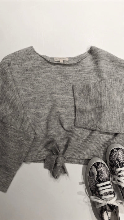 good day knit top - heather grey