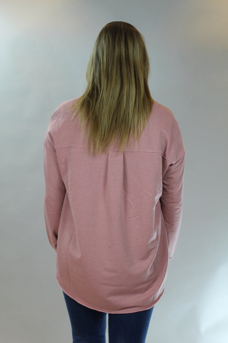z supply: v-neck weekender- wild rose