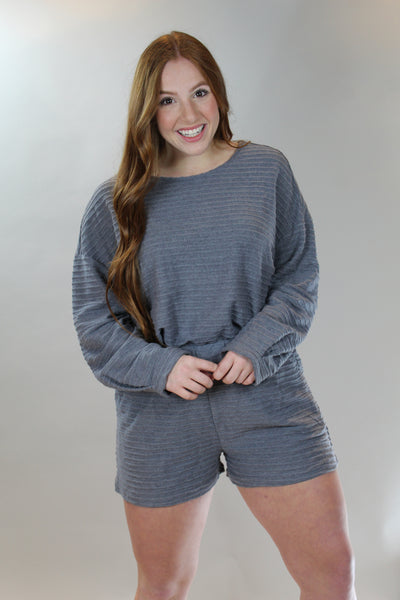 movie night in short set - grey