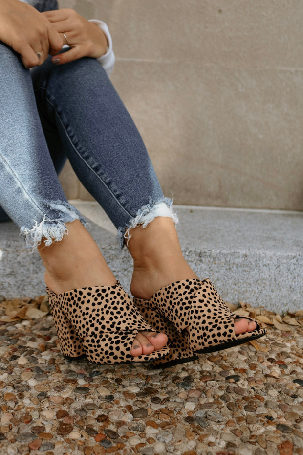 the cage heel - leopard