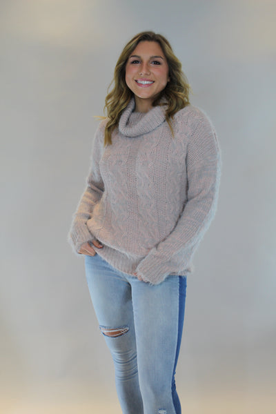 cozy night sweater - coral