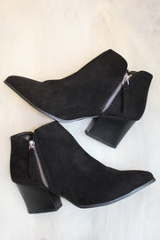 the nava bootie - black suede