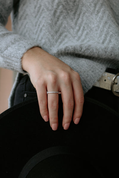 believe band: eternity band ring - sterling silver