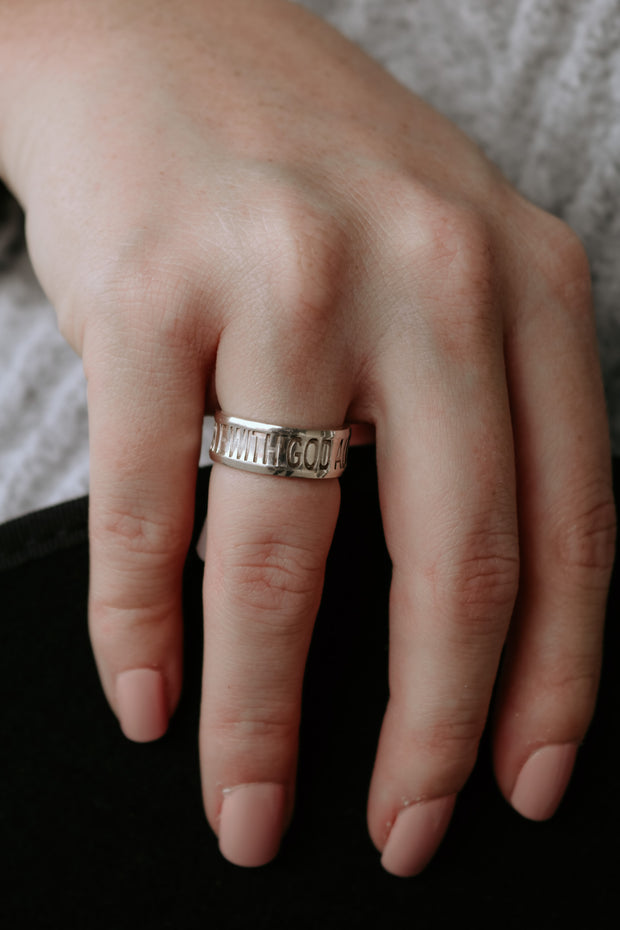 believe band: with God all things are possible ring