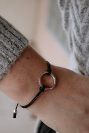 believe band: leather bb bracelet