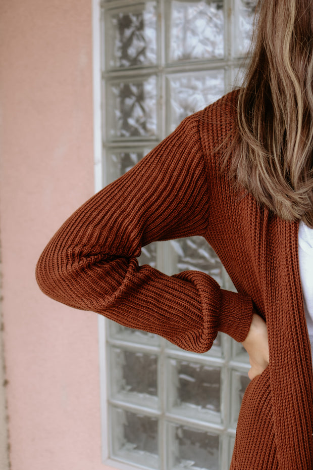 campfire night cardigan - bronze
