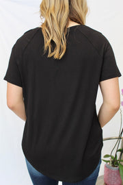 quitting time top- black