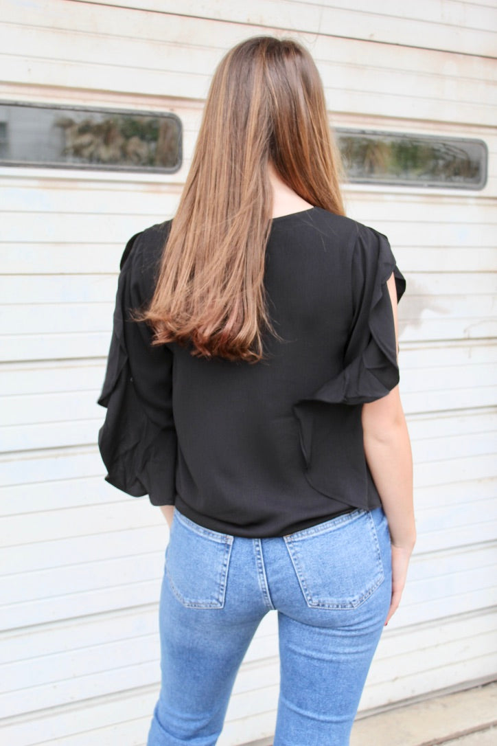 thinking about it top - black