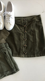 ok, i'm ready! skirt - olive