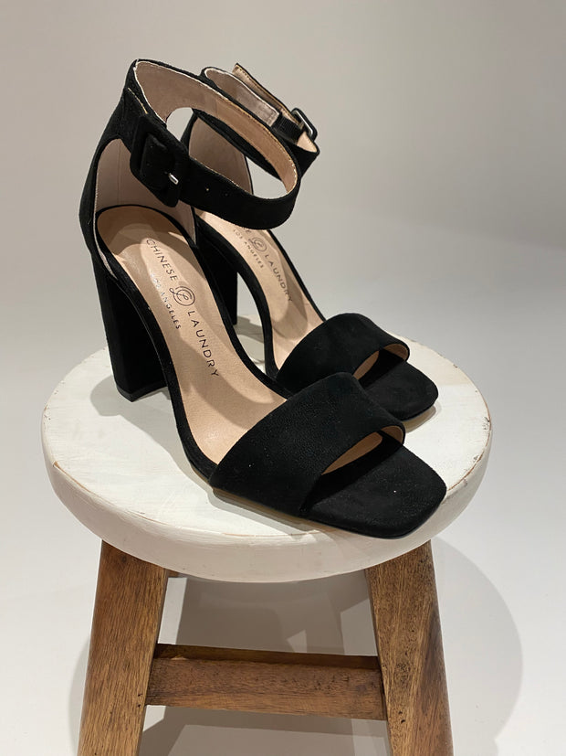 chinese laundry: the jettie heel - black