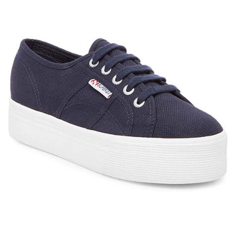 superga: navy platform