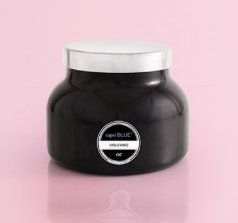 capri blue: 19 oz black signature jar - volcano