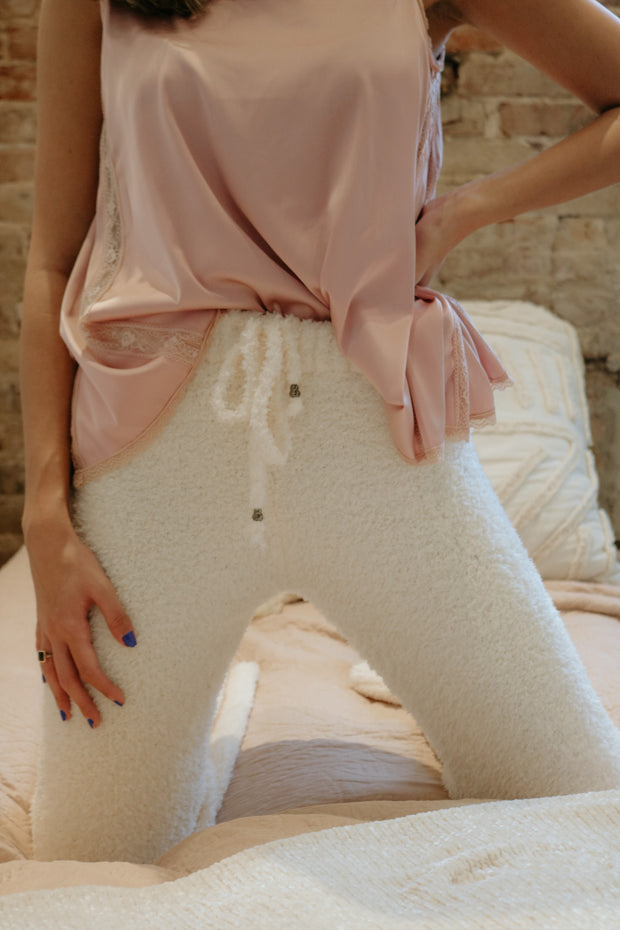 beautiful crazy pj pants - cream
