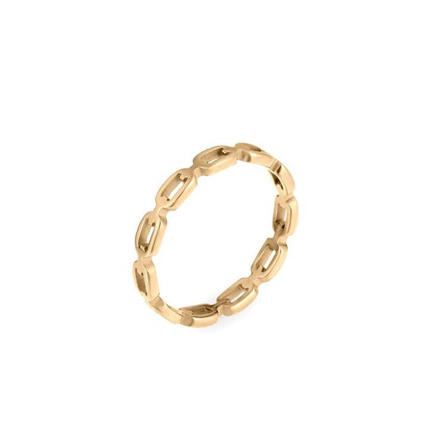 ellie vail: billy dainty chain link ring - gold
