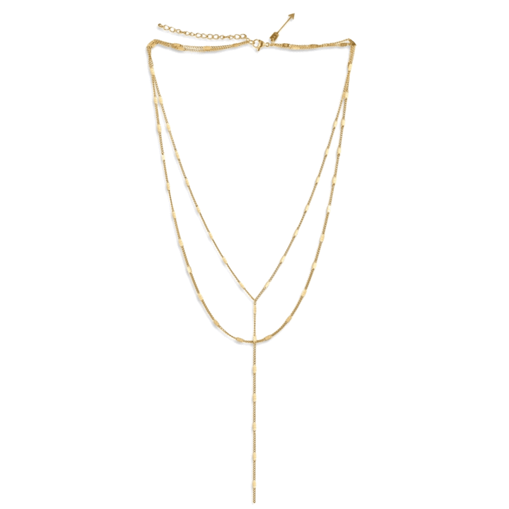 ellie vail: camilla lariat chain necklace - gold