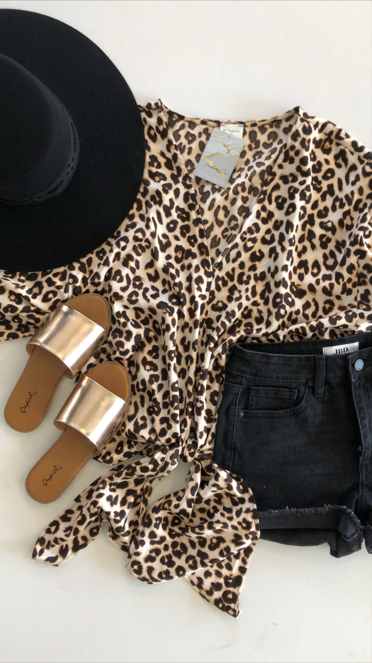 leopard lady top - leopard
