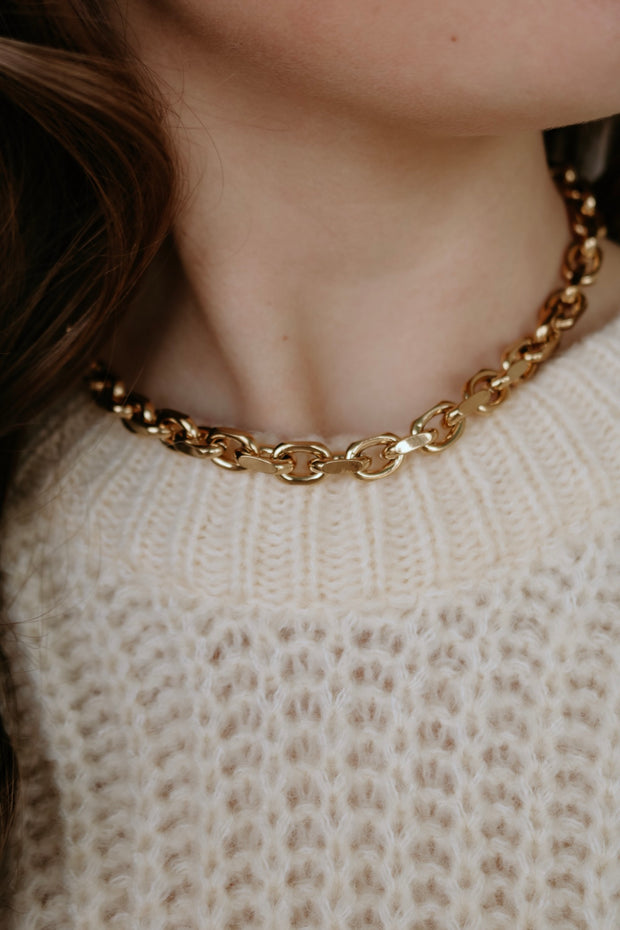 ellie vail: maddox chain necklace - gold