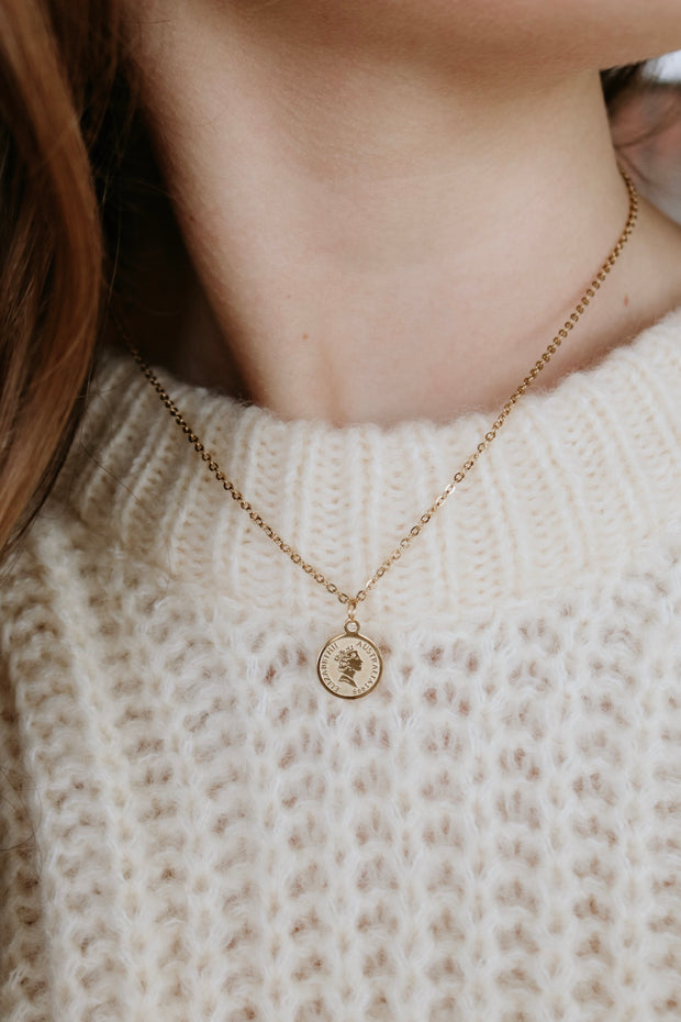 ellie vail: paige mini coin necklace - gold