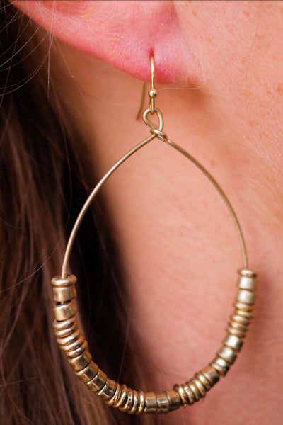 the esme teardrop earring - gold