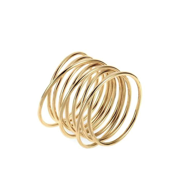 ellie vail: florence coil ring - gold