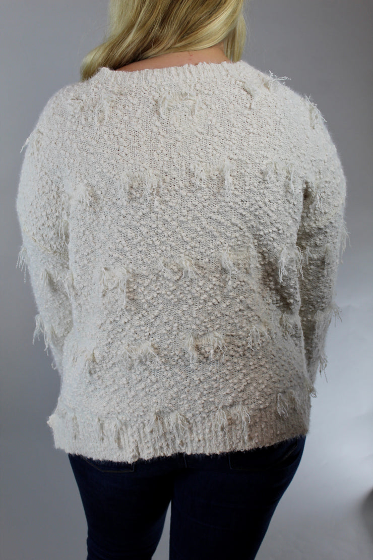on a date sweater - ivory