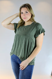 hometown top- olive