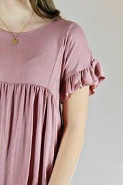 hometown top- mauve