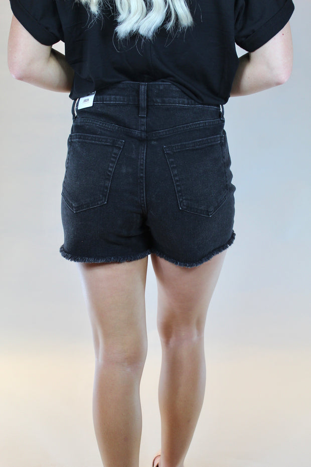 just black: the brynlee short - washed black