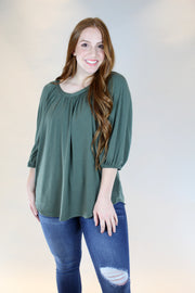 chasing you top- olive