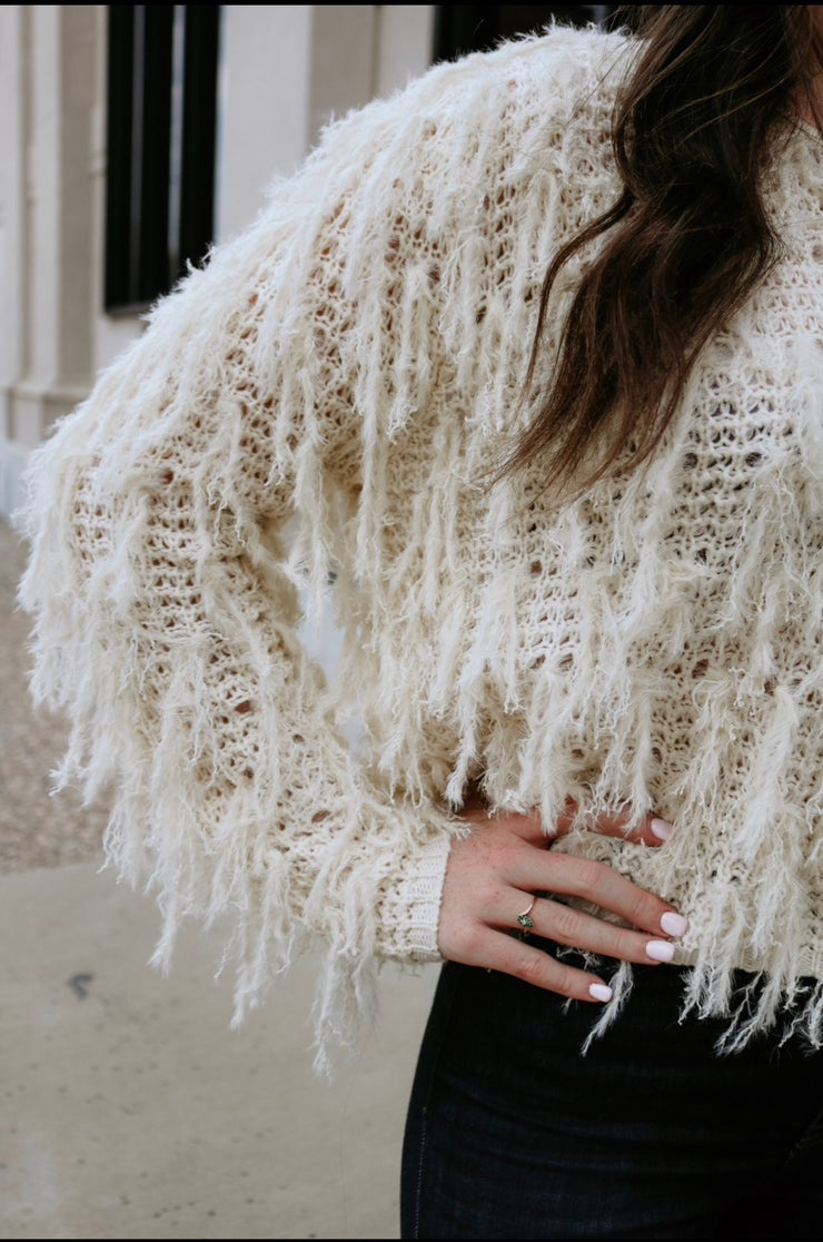so worth it knit sweater - cream