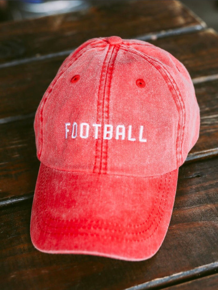 football hat - red