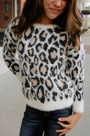 be the next trend tween sweater - ivory