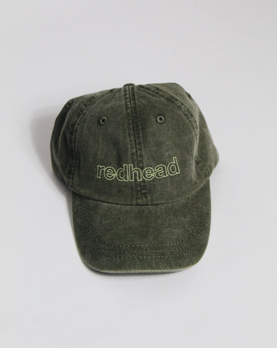 redhead hat - olive