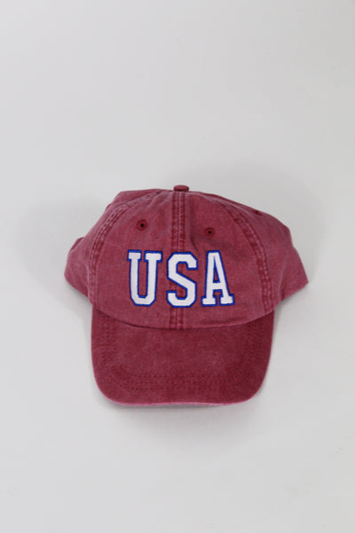 usa hat - red